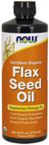NOW Flax Seed Oil Liquid, Organic