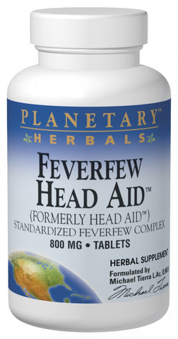 Planetary Herbals Feverfew Head Aid 615 mg Trial Size