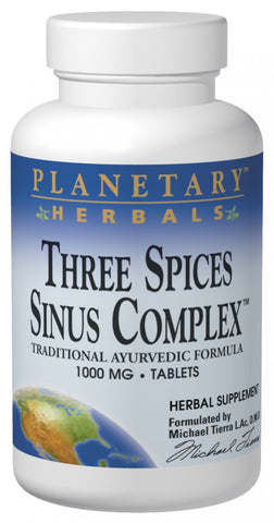 Planetary Herbals Three Spices Sinus Complex 1000 mg
