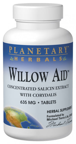 Planetary Herbals Willow Aid 635 mg