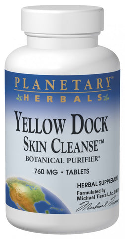 Planetary Herbals Yellow Dock Skin Cleanse 610 mg