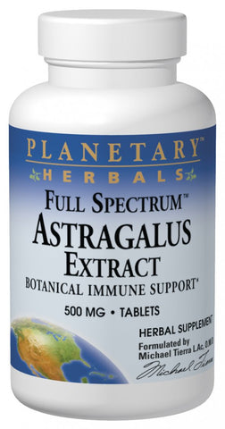 Planetary Herbals Astragalus Extract (Full Spectrum) 500 mg