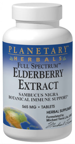 Planetary Herbals Elderberry Extract (Full Spectrum) 525 mg
