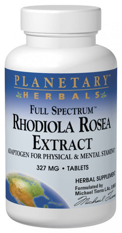 Planetary Herbals Rhodiola Rosea Extract (Full Spectrum) 327 mg