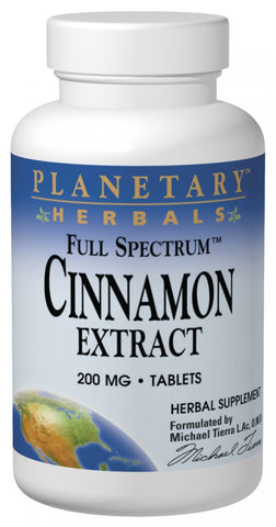 Planetary Herbals Cinnamon Extract (Full Spectrum) 200 mg