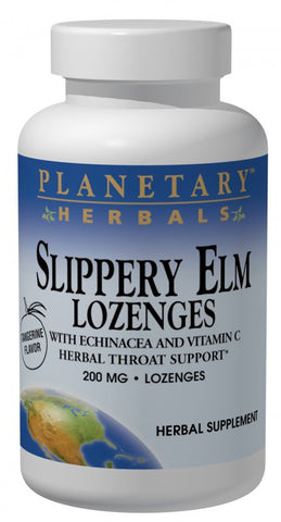 Planetary Herbals Slippery Elm Lozenges with Echinacea and Vitamin C 200 mg Tangerine