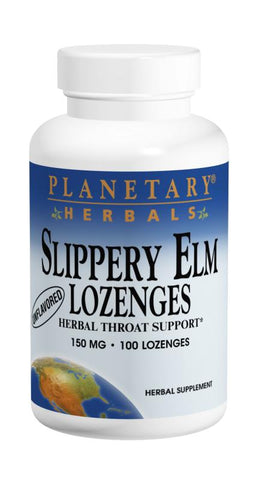 Planetary Herbals Slippery Elm Lozenges 150 mg Strawberry