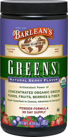Barlean's Organic Greens - Natural Berry Flavor
