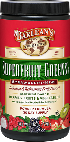 Barlean's Superfruit Greens - Strawberry-Kiwi