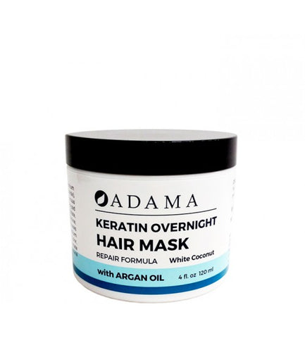 Zion Health Adama Keratin Hair Mask with Argan Oil - White Coconut Scent