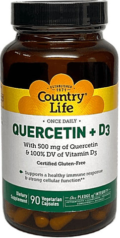 Country Life Quercetin + D3