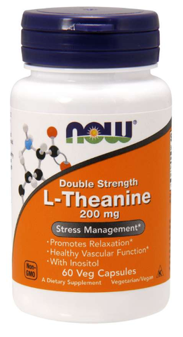 NOW L-Theanine, Double Strength 200 mg