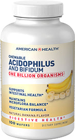 American Health Chewable Acidophilus and Bifidum - Banana