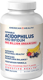 American Health Chewable Acidophilus and Bifidum - Assorted Natural Fruit Flavors