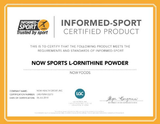 NOW Sports L-Ornithine Powder