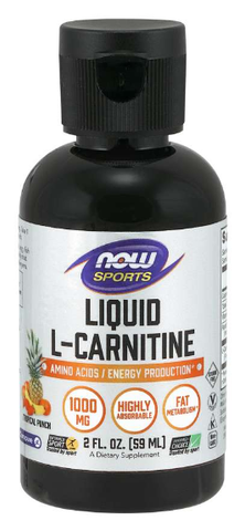 NOW Sports L-Carnitine Liquid 1000 mg, Tropical Punch