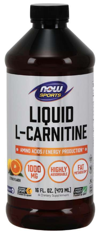 NOW Sports L-Carnitine Liquid 1000 mg, Citrus