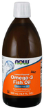 NOW Omega-3 Fish Oil Liquid (Lemon Flavored)