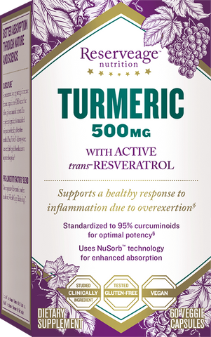 Reserveage Nutrition Turmeric 500mg with Resveratrol