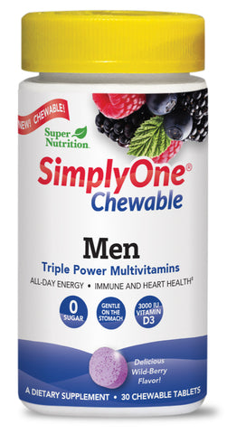 Super Nutrition Simply One Chewable Men