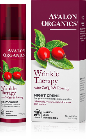 Avalon Organics Wrinkle Therapy with CoQ10 & Rosehip Night Creme