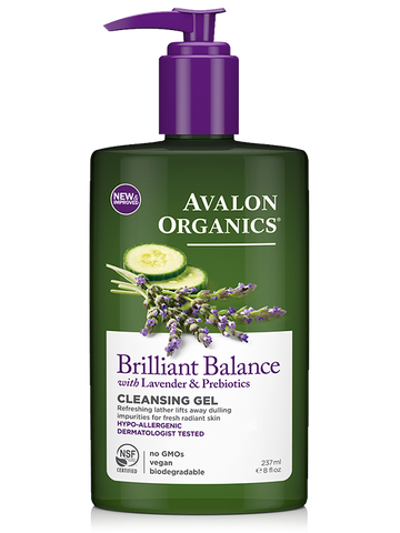 Avalon Organics Brilliant Balance with Lavender & Prebiotics Cleansing Gel