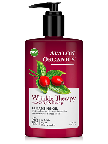 Avalon Organics Wrinkle Therapy with CoQ10 & Rosehip Cleansing Oil