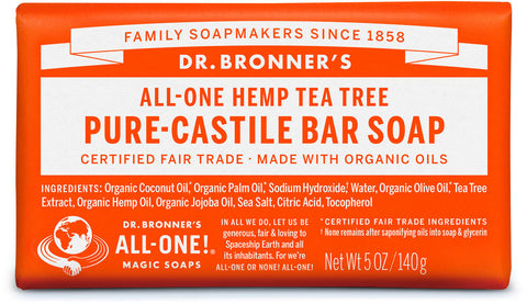 Dr. Bronner's All-One Hemp Pure-Castile Organic Bar Soap - Tea Tree