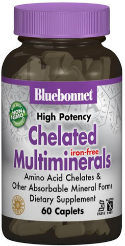 Bluebonnet Nutrition High Potency Chelated Multiminerals (Iron Free)