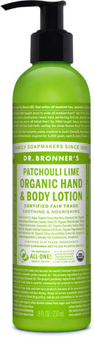 Dr. Bronner's Organic Hand & Body Lotion - Patchouli Lime