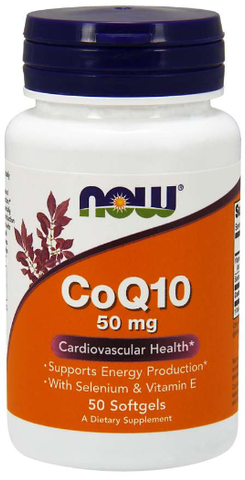 NOW CoQ10 50 mg Softgel with Vitamin E and Selenium
