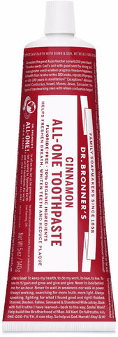 Dr. Bronner's All-One Toothpaste - Cinnamon