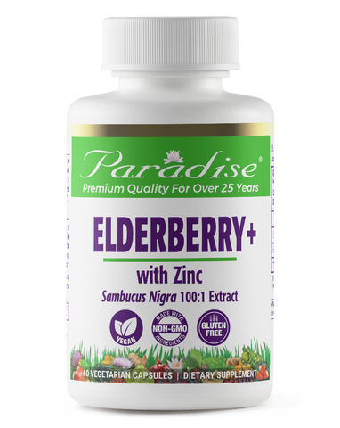 Paradise Herbs Elderberry+ with Zinc