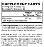 Blue Ridge Mellow Mag Effervescent Magnesium Powder - Cherry