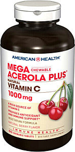 American Health Mega Chewable Acerola Plus