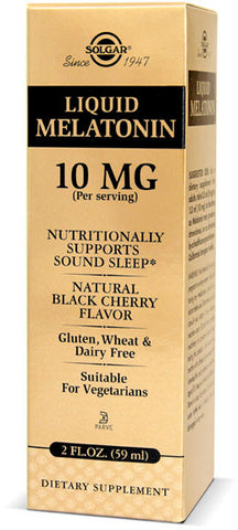 Solgar Liquid Melatonin 10 mg - Black Cherry