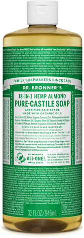 Dr. Bronner's 18-in-1 Hemp Pure-Castile Liquid Soap - Almond