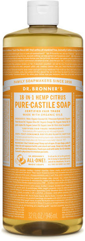 Dr. Bronner's 18-in-1 Hemp Pure-Castile Liquid Soap - Citrus
