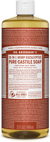 Dr. Bronner's 18-in-1 Hemp Pure-Castile Liquid Soap - Eucalyptus