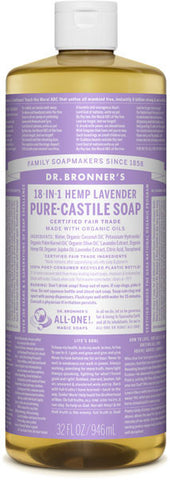 Dr. Bronner's 18-in-1 Hemp Pure-Castile Liquid Soap - Lavender