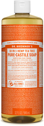 Dr. Bronner's 18-in-1 Hemp Pure-Castile Liquid Soap - Tea Tree