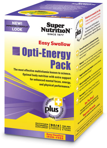 Super Nutrition Easy Swallow Opti-Energy Pack (Iron Free)