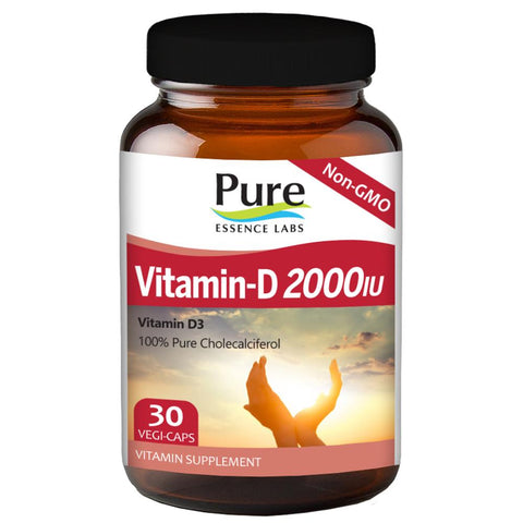 Pure Essence Labs Vitamin-D 2000 IU