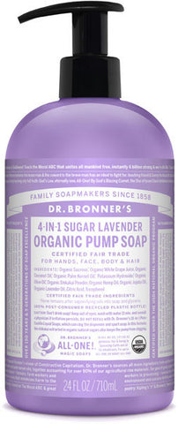 Dr. Bronner's 4-in-1 Sugar Organic Pump Soap - Lavender