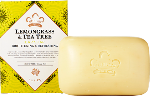 Nubian Heritage Bar Soap - Lemongrass & Tea Tree