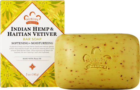 Nubian Heritage Bar Soap - Indian Hemp & Haitian Vetiver