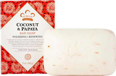 Nubian Heritage Bar Soap - Coconut & Papaya