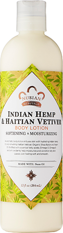 Nubian Heritage Body Lotion - Indian Hemp & Haitian Vetiver