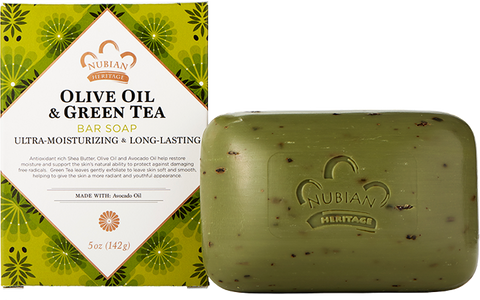 Nubian Heritage Bar Soap - Olive Oil & Green Tea