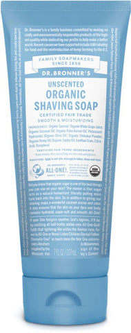 Dr. Bronner's Organic Shaving Soap - Unscented